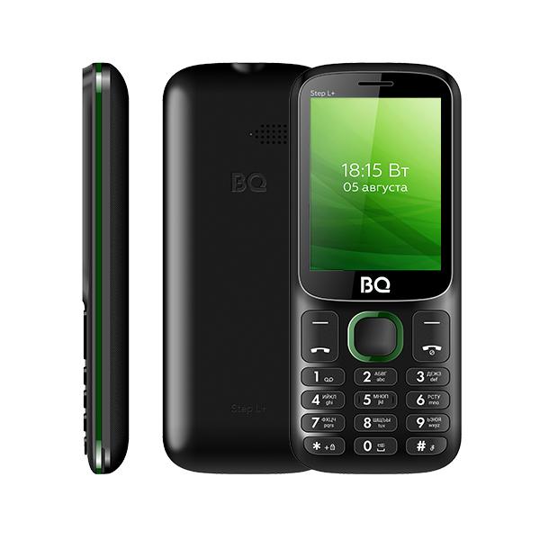 Мобильный телефон BQ BQM-2440 Step L+ Black+Green 1