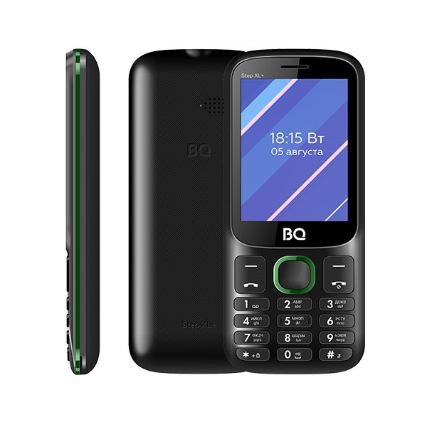 Мобильный телефон BQ BQM-2820 Step XL+ Black/Green 1