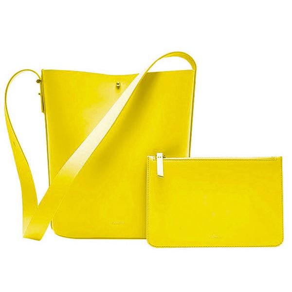 Сумка Xiaomi CARRY'O Light Luxury Leather Bucket Bag Yellow