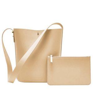 Сумка Xiaomi CARRY'O Light Luxury Leather Bucket Bag Pink