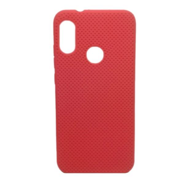 Чехол-накладка с перфорацией (силикон) для Xiaomi Redmi Note 7 (Красный) 1