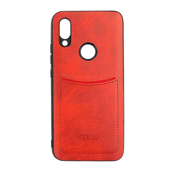 Чехол-накладка ILEVEL /визитница/ для Redmi 7 (Красный) 1