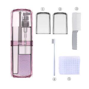 Органайзер для гигиенического набора Travel Toothbrush Cup Storage organizer box Pink