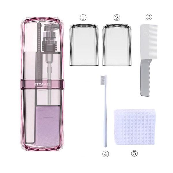 Органайзер для гигиенического набора Travel Toothbrush Cup Storage organizer box Pink 1