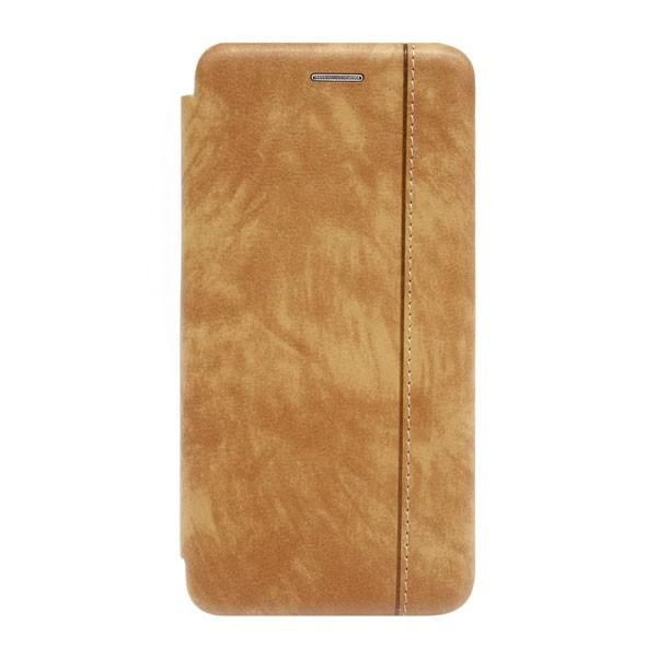Чехол-книжка с магнитом /иск.кожа,визитница/ для Xiaomi Mi-9 (2019) (Светло-коричневый) 1