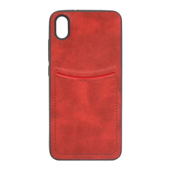 Чехол-накладка ILEVEL /визитница/ для Redmi 7A (Красный)
