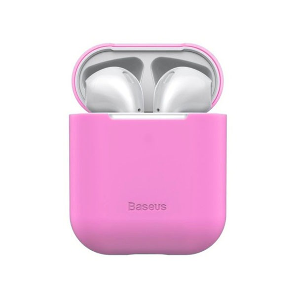 Чехол для AirPods Baseus Ultrathin Series Silica Gel Protector for Airpods 1/2 Pink WIAPPOD-BZ04