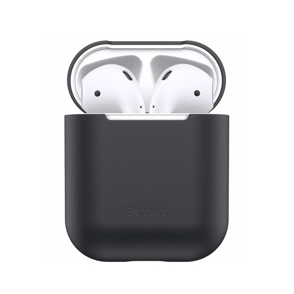 Чехол для AirPods Baseus Ultrathin Series Silica Gel Protector for Airpods 1/2 Black WIAPPOD-BZ01