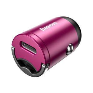 Автомобильное зарядное устройство Baseus Tiny Star Mini Quick Charge Car Charger USB P Pink VCHX-A04