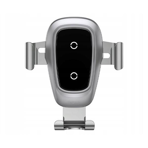 Автомобильный держатель Baseus Baseus Metal Wireless Charger Gravity CarMount (Silver) WXYL-B0S