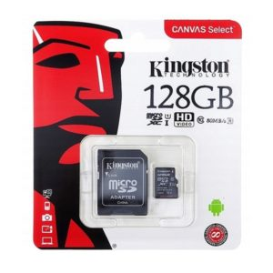Карта памяти Kingston MicroSD 128Gb Class 10 UHS-I (100 Mb/s) с SD адаптером