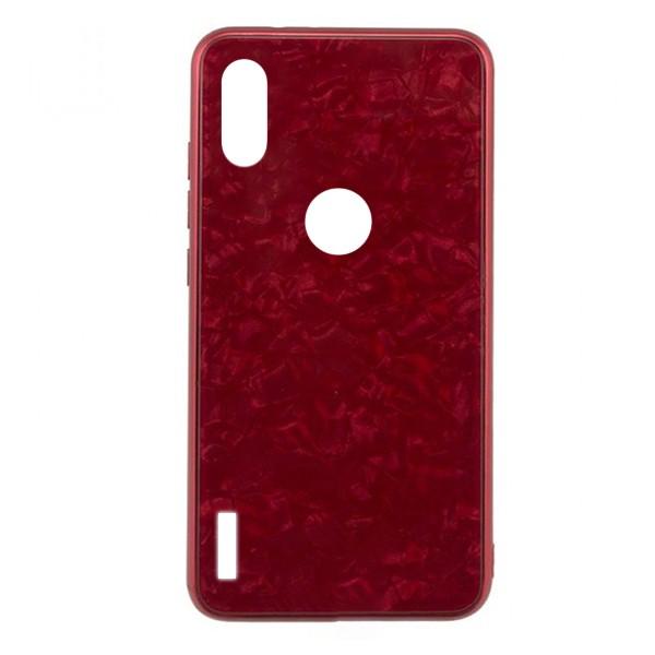 Чехол накладка стекло Marble для Xiaomi Redmi 7 (Красный) 1
