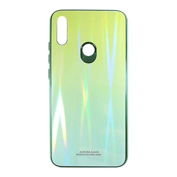 Чехол накладка Aurora Glass для Xiaomi Redmi 7 (Зеленый - бледно зеленый)