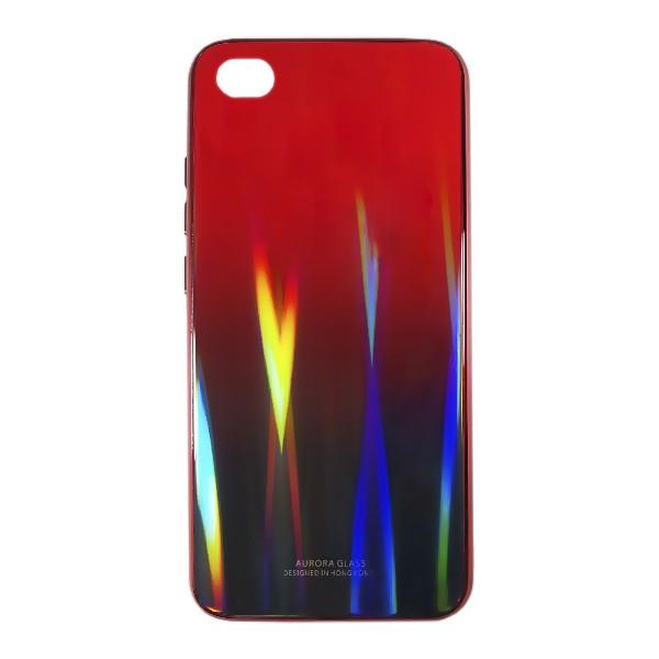 Чехол накладка Aurora Glass для Xiaomi Redmi GO (красно - черный)