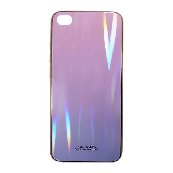 Чехол накладка Aurora Glass для Xiaomi Redmi GO (розово - фиолетоый) 1