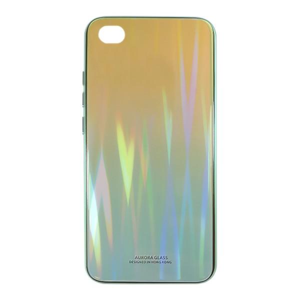 Чехол накладка Aurora Glass для Xiaomi Redmi GO (зеленый - светлозеленый) 1