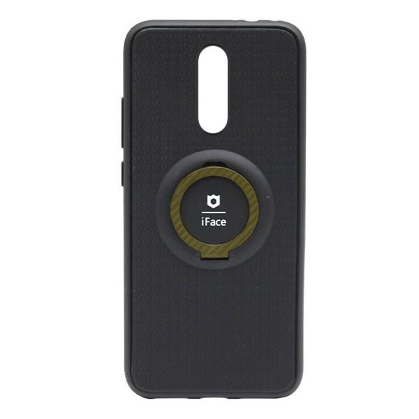 Чехол силиконовый iFace с подставкой и магнитом для Xiaomi Redmi 8 (black-gold) 1