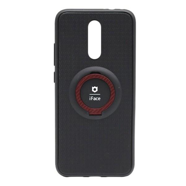 Чехол силиконовый iFace с подставкой и магнитом для Xiaomi Redmi 8 (black-red)