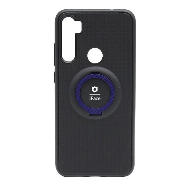 Чехол силиконовый iFace с подставкой и магнитом для Xiaomi Redmi Note 8 (black-blue) 1