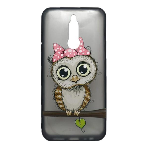 Чехол силиконовый с рисунком для Xiaomi Redmi 8 (owl girl) 1