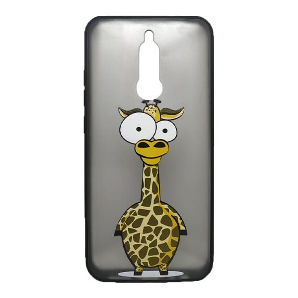 Чехол силиконовый с рисунком для Xiaomi Redmi 8 (giraffe) 1