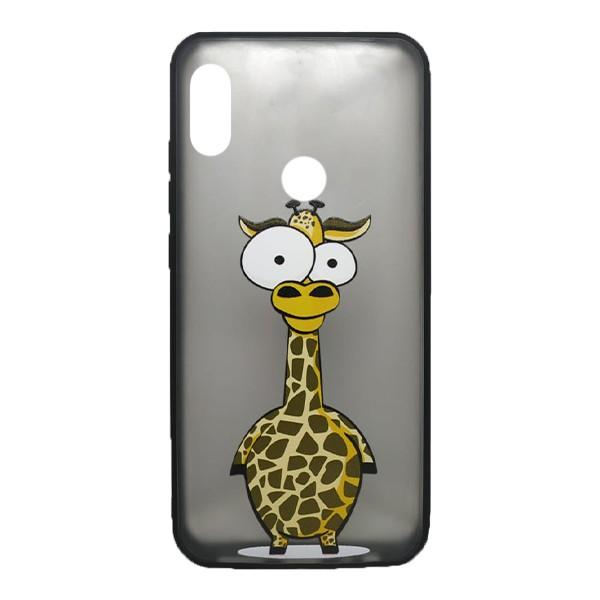 Чехол силиконовый с рисунком для Xiaomi Redmi Note 7 (giraffe) 1