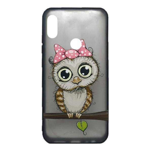 Чехол силиконовый с рисунком для Xiaomi Redmi Note 7 (owl girl)