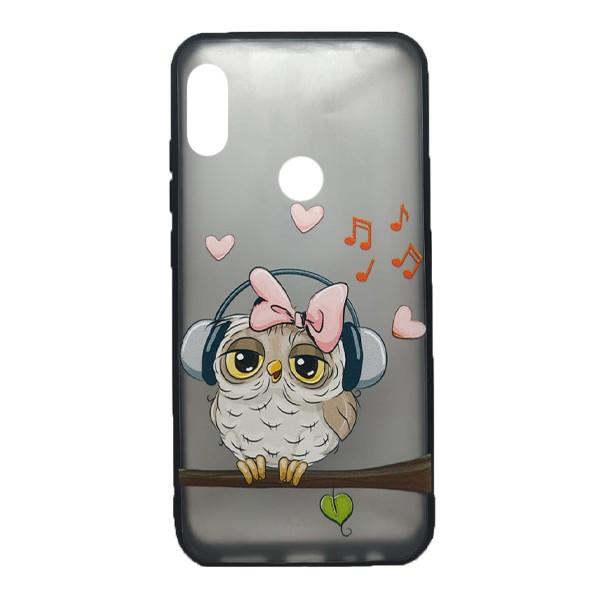 Чехол силиконовый с рисунком для Xiaomi Redmi Note 7 (owl music) 1