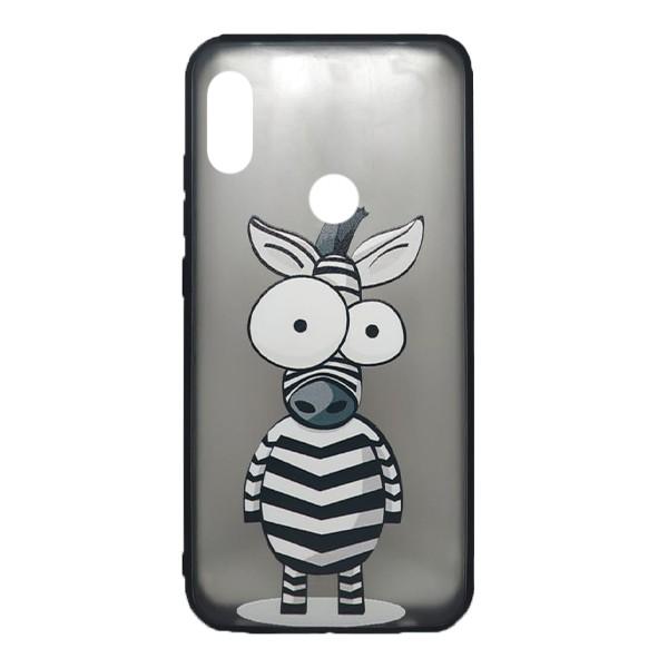 Чехол силиконовый с рисунком для Xiaomi Redmi Note 7 (zebra) 1