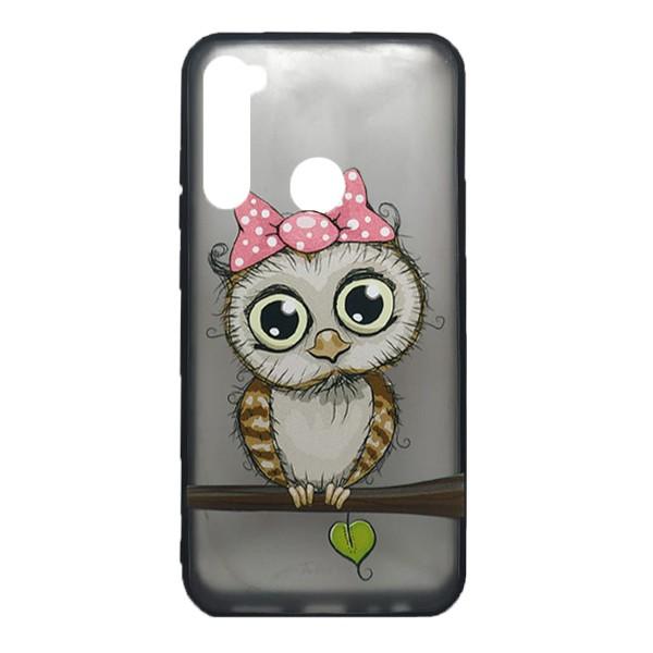 Чехол силиконовый с рисунком для Xiaomi Redmi Note 8 (owl girl) 1