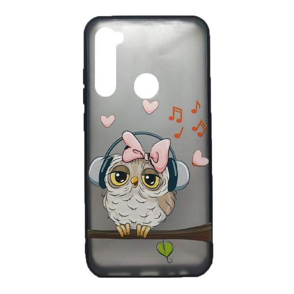 Чехол силиконовый с рисунком для Xiaomi Redmi Note 8 (owl music) 1