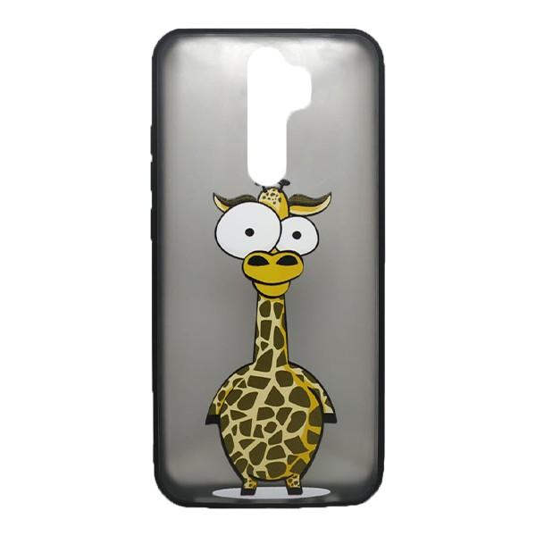 Чехол силиконовый с рисунком для Xiaomi Redmi Note 8 Pro (giraffe)