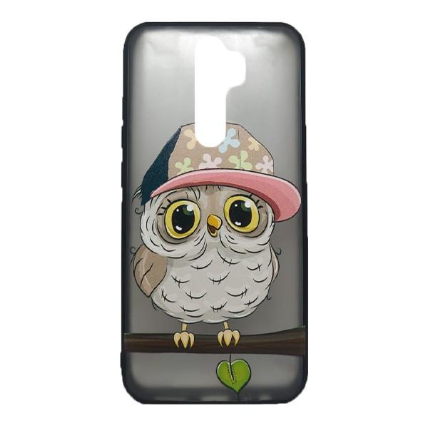 Чехол силиконовый с рисунком для Xiaomi Redmi Note 8 Pro (owl boy) 1