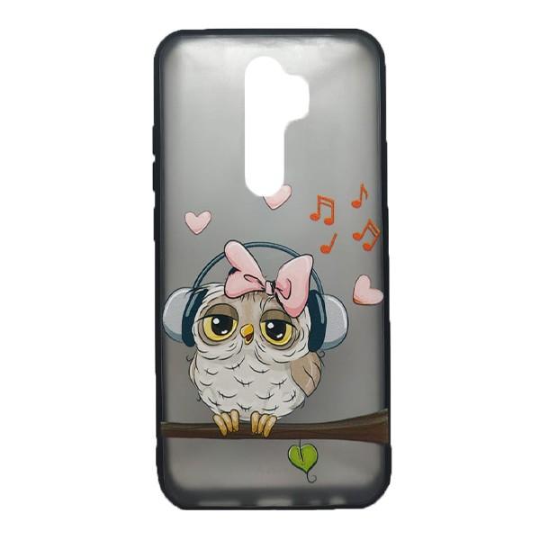 Чехол силиконовый с рисунком для Xiaomi Redmi Note 8 Pro (owl music) 1