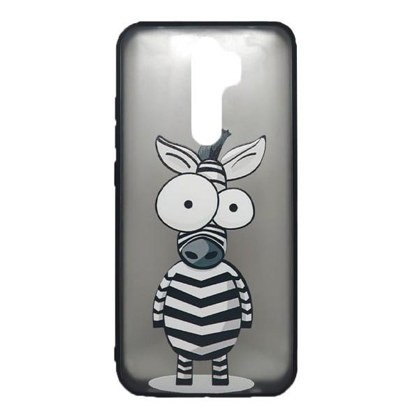 Чехол силиконовый с рисунком для Xiaomi Redmi Note 8 Pro (zebra)