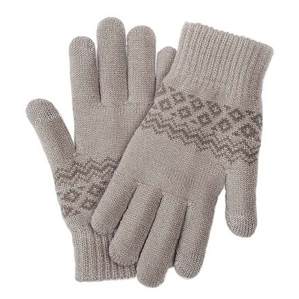 Перчатки Xiaomi Touchscreen Winter Wool Gloves (Бежевый)