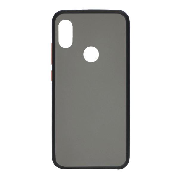 Чехол силиконовый затемненный с пластиковой спиной для Xiaomi Redmi Note 7 Pro (black) 1