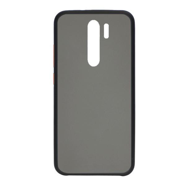 Чехол силиконовый затемненный с пластиковой спиной для Xiaomi Redmi Note 8 Pro (black) 1