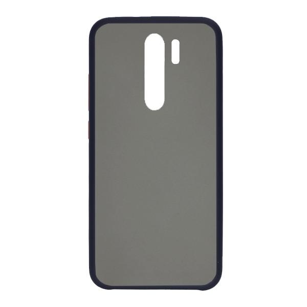 Чехол силиконовый затемненный с пластиковой спиной для Xiaomi Redmi Note 8 Pro (dark-blue) 1