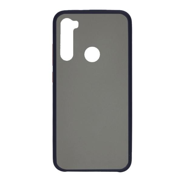 Чехол силиконовый затемненный с пластиковой спиной для Xiaomi Redmi Note 8 (dark-blue)