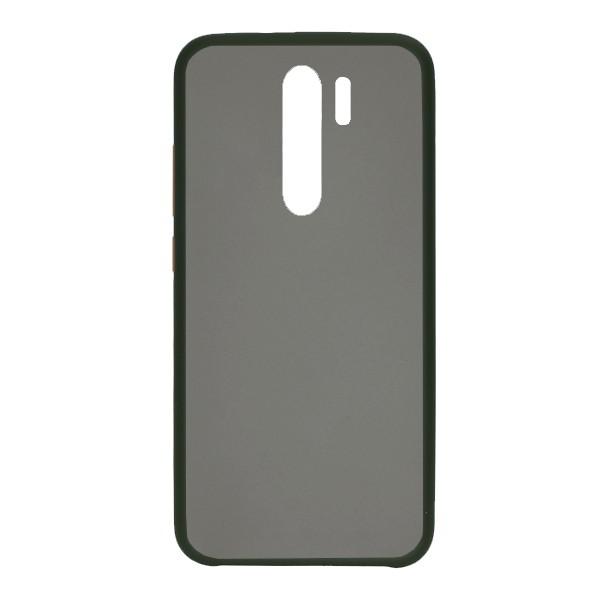 Чехол силиконовый затемненный с пластиковой спиной для Xiaomi Redmi Note 8 Pro (dark-green)