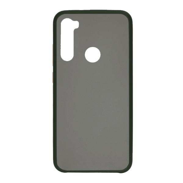 Чехол силиконовый затемненный с пластиковой спиной для Xiaomi Redmi Note 8 (dark-green)