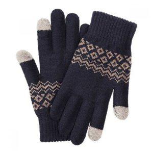 Перчатки Xiaomi Touchscreen Winter Wool Gloves (Синий)