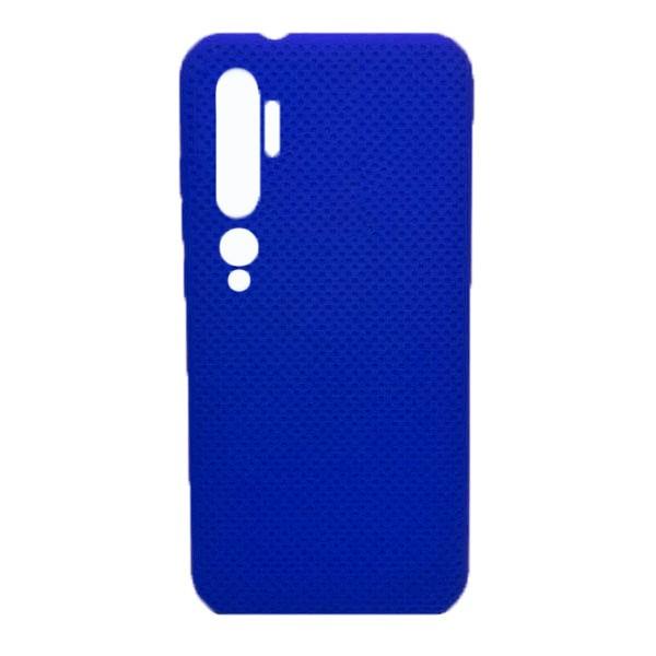 Чехол-накладка с перфорацией (силикон) для Xiaomi Mi Note 10 (Темно-Синий) 1
