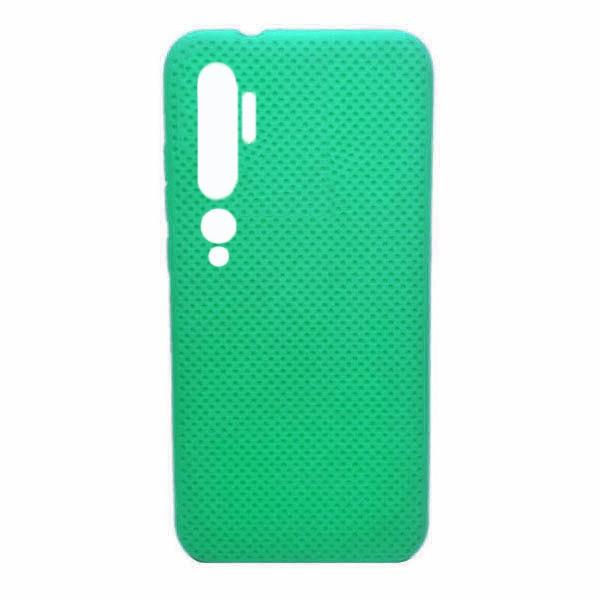 Чехол-накладка с перфорацией (силикон) для Xiaomi Mi Note 10 (Мятный) 1