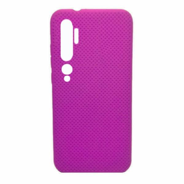 Чехол-накладка с перфорацией (силикон) для Xiaomi Mi Note 10 (Ярко-розовый) 1