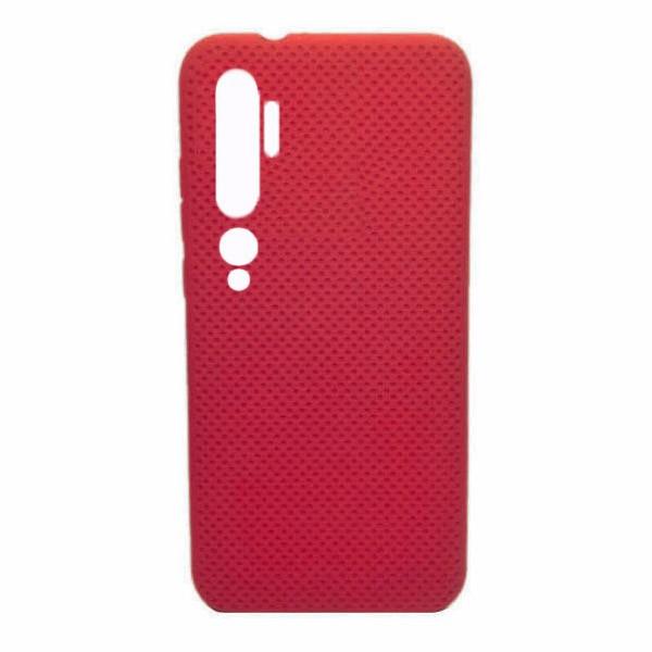 Чехол-накладка с перфорацией (силикон) для Xiaomi Mi Note 10 (Красный) 1
