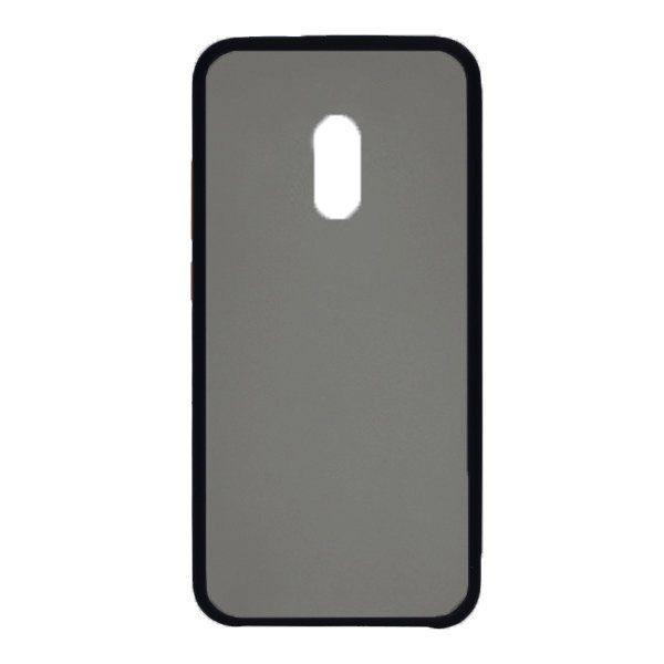 Чехол силиконовый затемненный с пластиковой спиной для Xiaomi Redmi 8/8A (black) 1