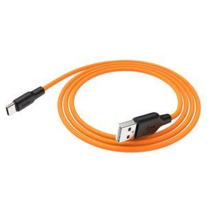 Кабель HOCO X21 Silicone Cable Type-C (L=0,25M), Black&Orange