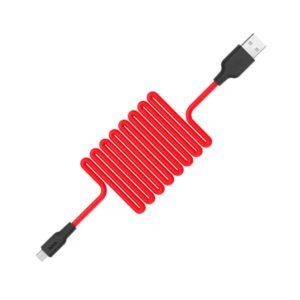 Кабель HOCO X21 Silicone Cable Type-C (L=0,25M), Black&Red